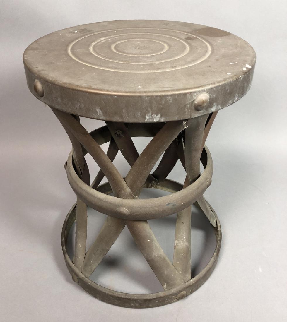 SARREID Style Metal Stool Table. Modern corseted
