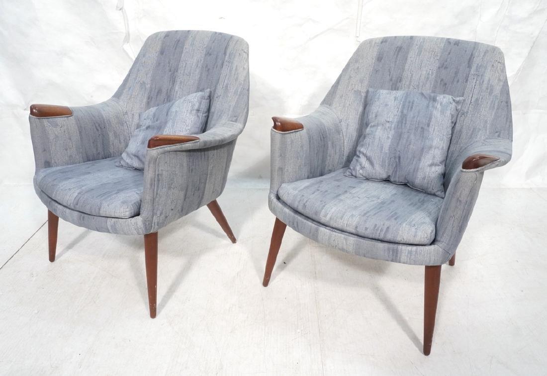 Pair Hans Wegner Style Lounge Chairs.  MAMA BEAR