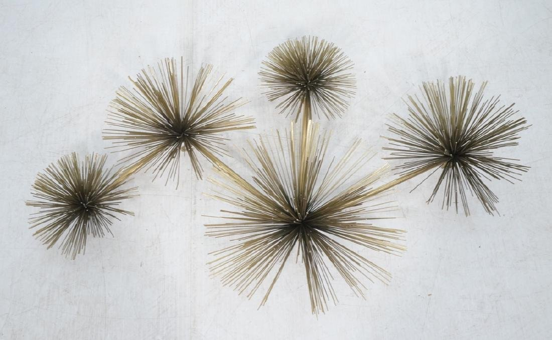 C. JERE Pom Pom Wall Sculpture.  Gold Painted.  M
