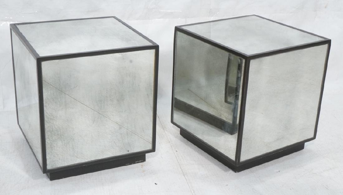 Pair Matthew Williams Uttermost Mirrored Cube End