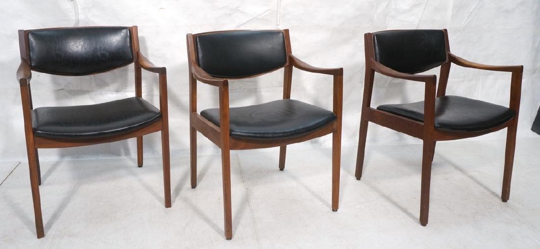 Set of Three American Modern Arm Chairs.  Slop Ar
