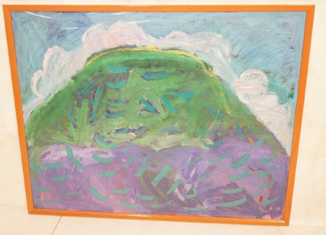 Lg Abstract Modern Painting. Green, purple, turqu
