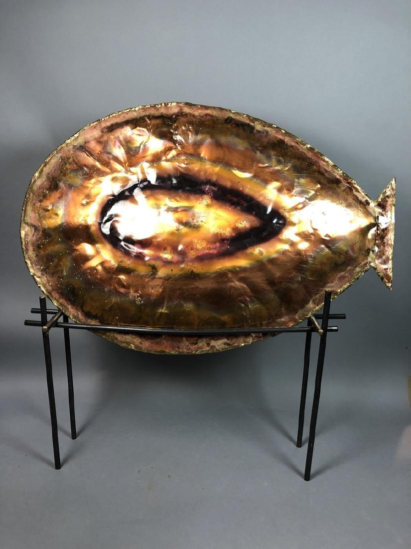 Brutalist Modernist Fish Sculpture Welded Steel S