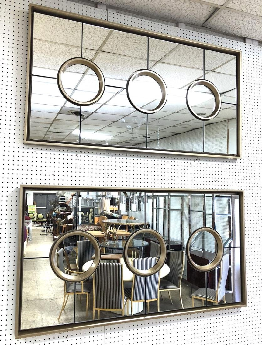 Pr Decorator Wall Mirrors Glass Panels with 3 ins