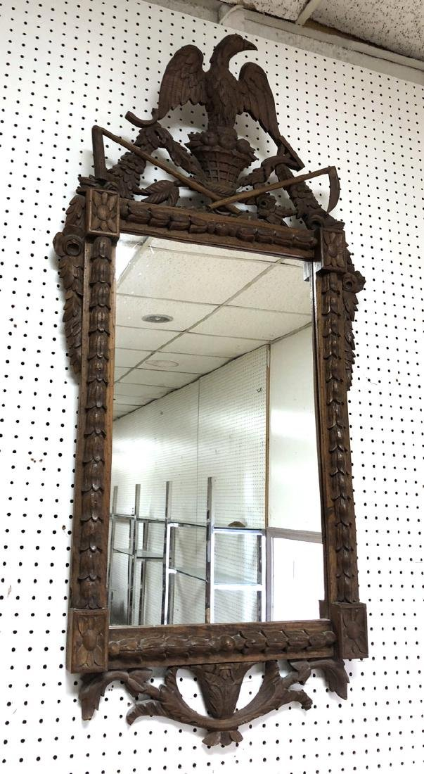 Chapman Carved Wood Eagle Vintage Mirror. Fancy f
