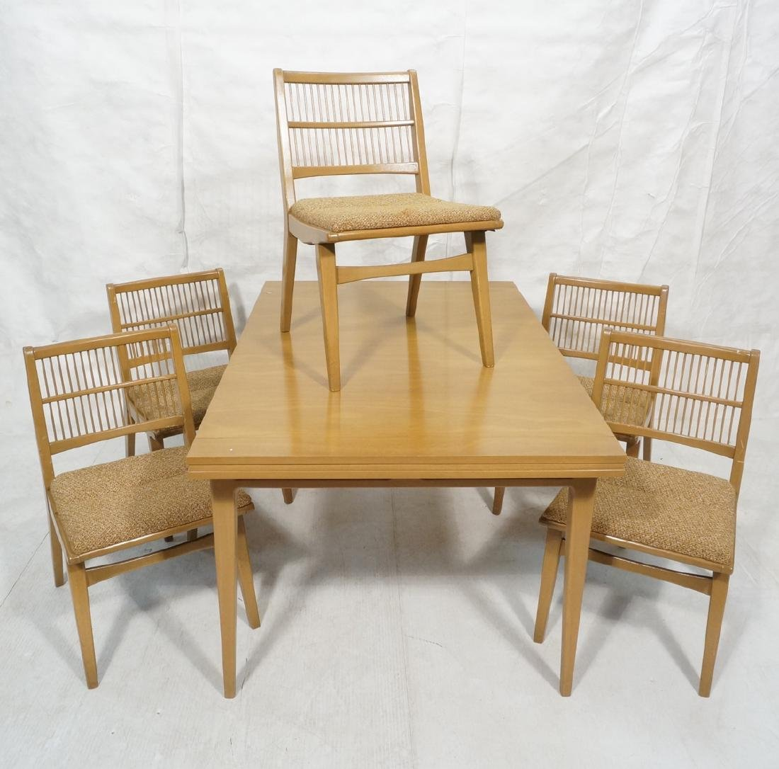6pc Modern Dining Set RED LION. Dining table on 4