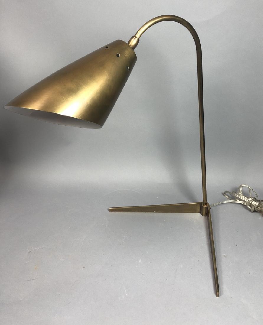 Modern brushed Brass Desk Table Lamp. 2 leg L for