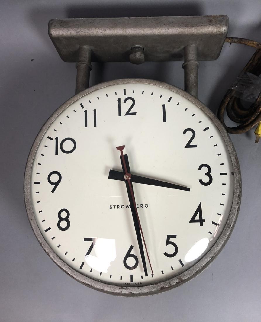 STROMBERG Hanging Industrial Ceiling Clock. Ceili