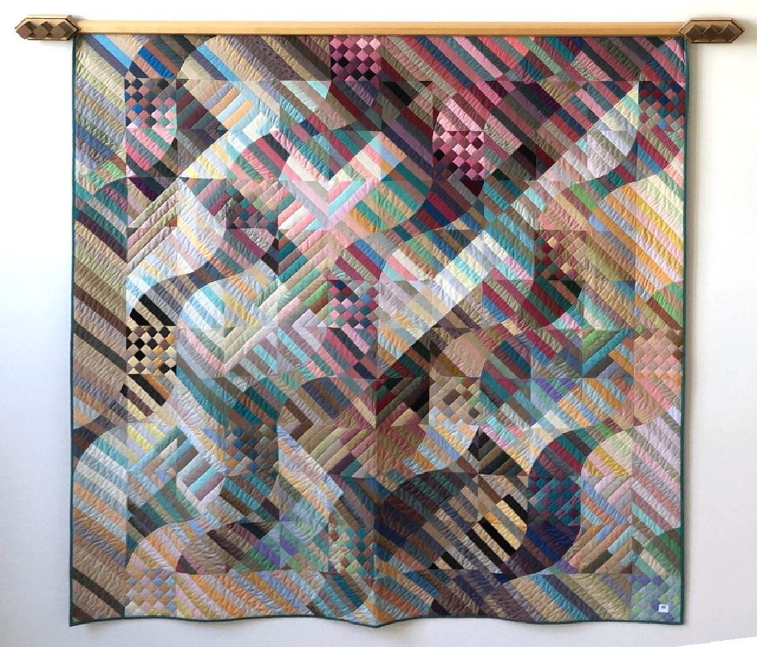 MICHAEL JAMES American Studio Quilt Wall Hanging. 1986