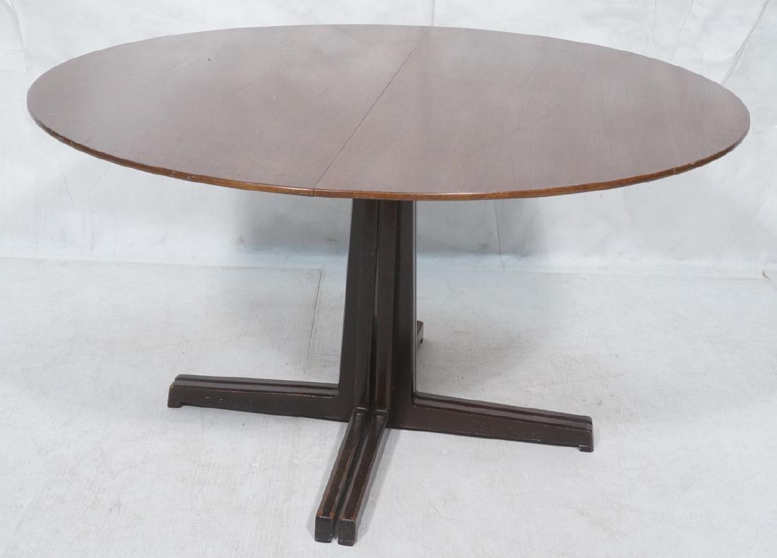 Round DUNBAR American Walnut Dining Table. Modern