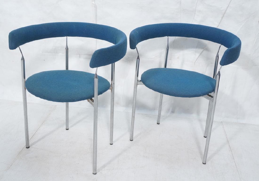 Pr Swedish Modern Barrel Back Open Frame Side Din