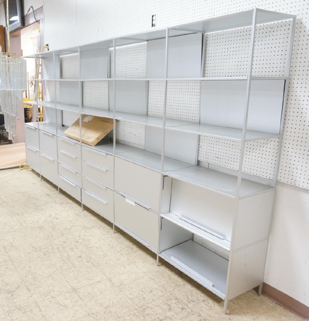 MDF ITALIA Minima 6 Section Aluminum Wall Shelf U