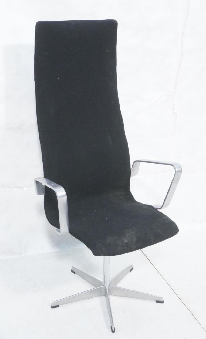 Arne Jacobsen Style Tall Back Office Chair. Tall