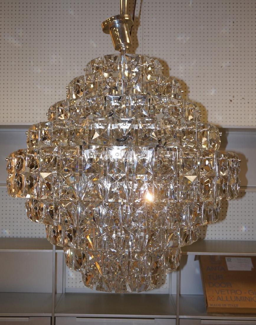 Kinkeldey Huge Modern Crystal Chandelier. 9 stepp
