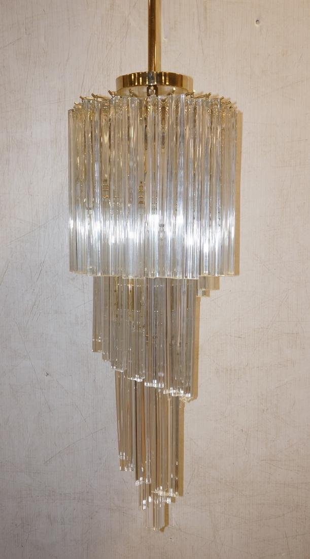 CAMER Style Multi Tiered Glass Prism Chandelier.