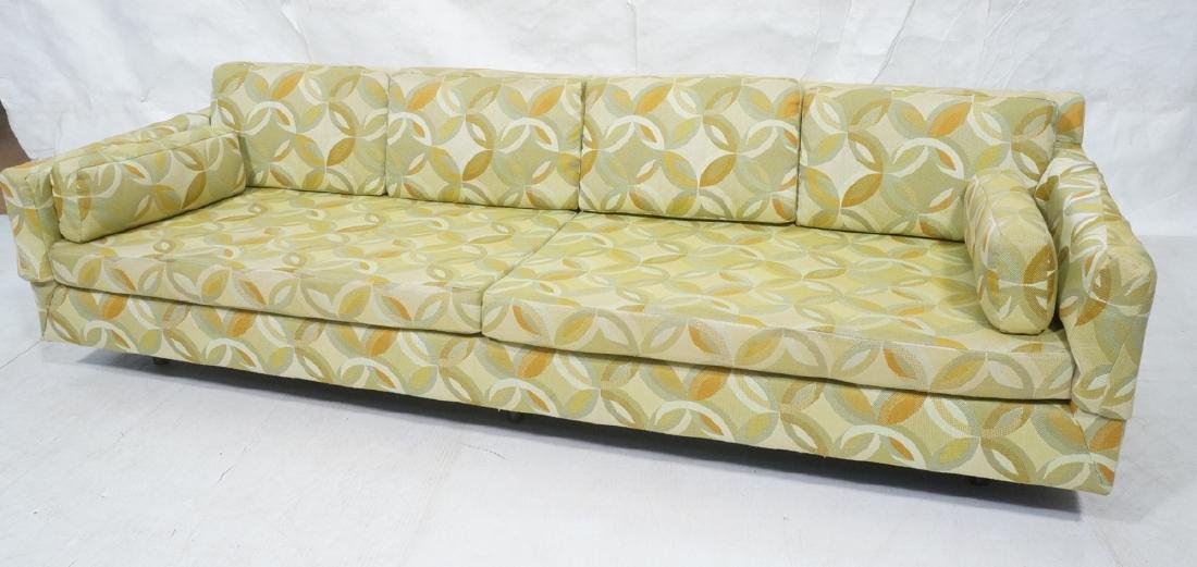 Long Horizontal Form Modern Upholstered Sofa. Pos
