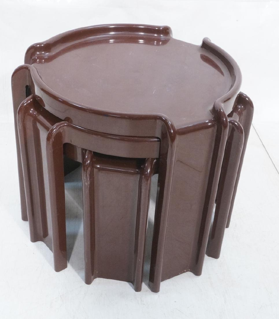 3pc KARTELL MILANO Brown Plastic Stacking Tables