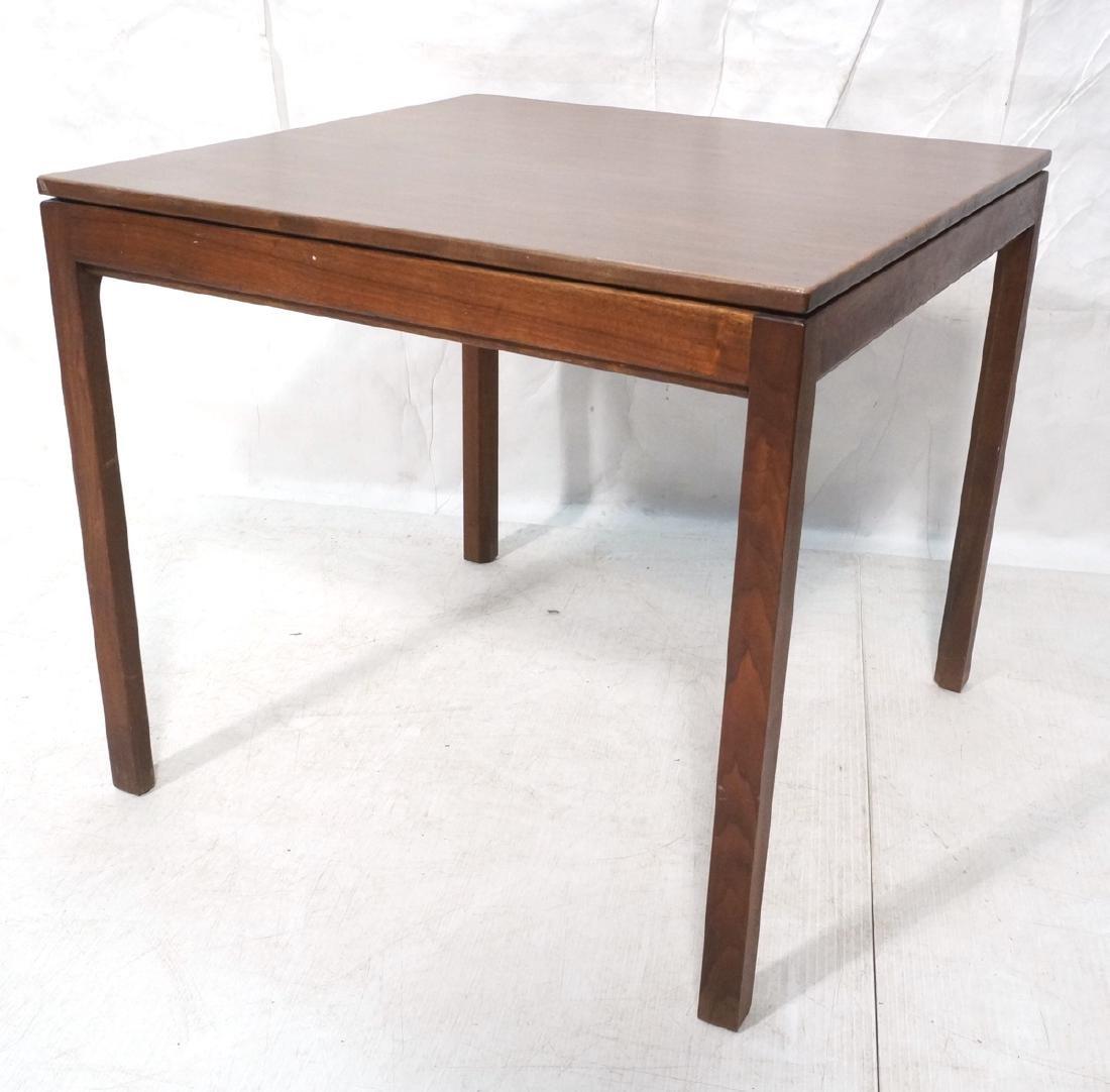 JENS RISOM Square Modern Dining Table. Wood grain