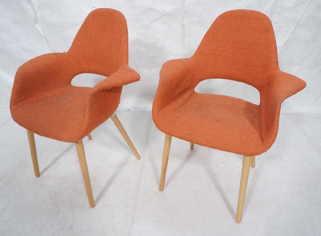 """Pr Reproduction Red """"Organic"""" Modern Side Chairs."""