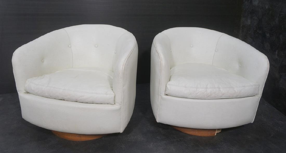 Pr THAYER COGGIN by MILO BAUGHMAN Lounge Chairs.