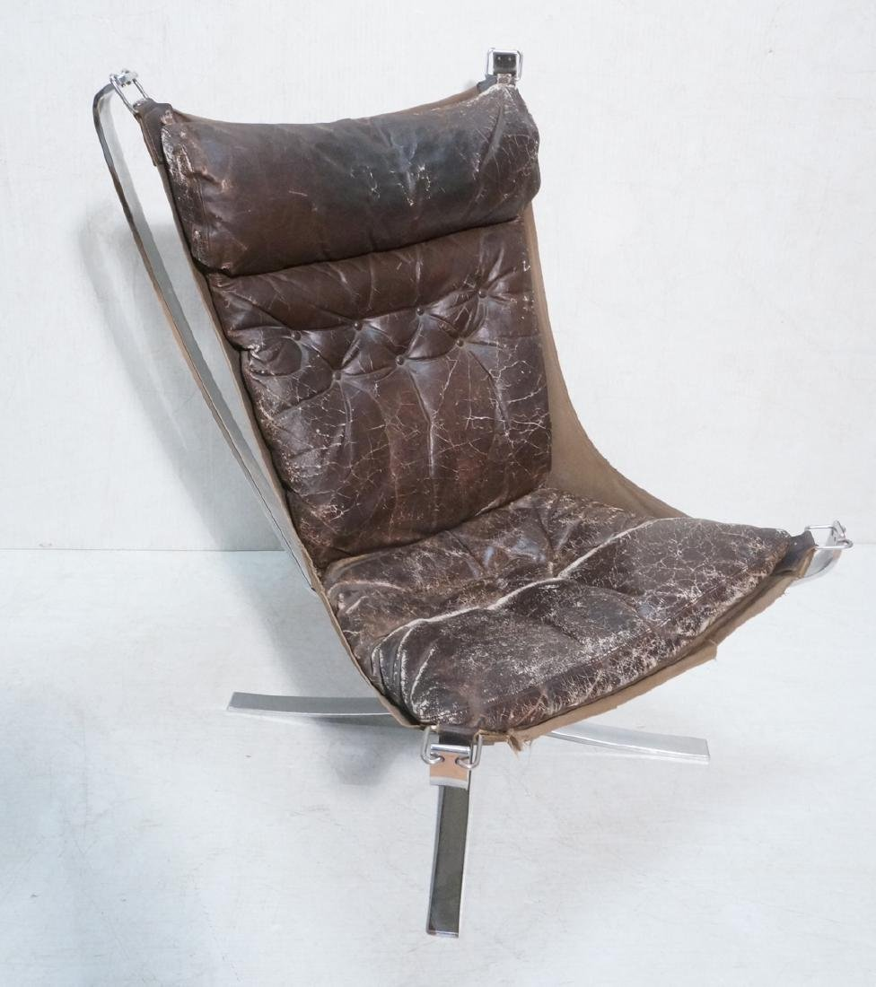 Tall Back Stainless steel Falcon chair by Sigurd