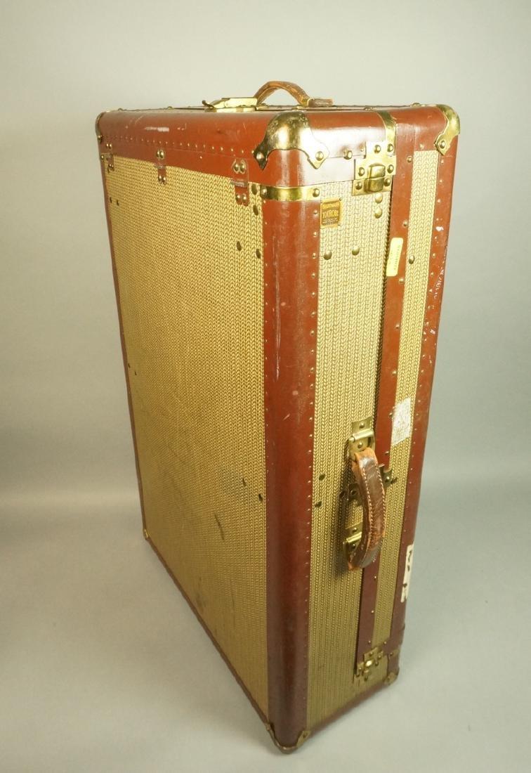 Vintage Hartman Luggage Trunk.  Hard case. Leathe