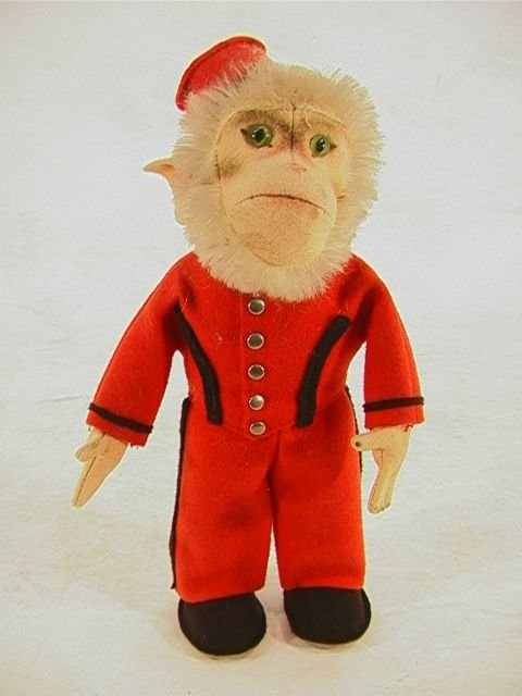 1002: Vintage Steiff 328 Bellhop Monkey. Adorable littl