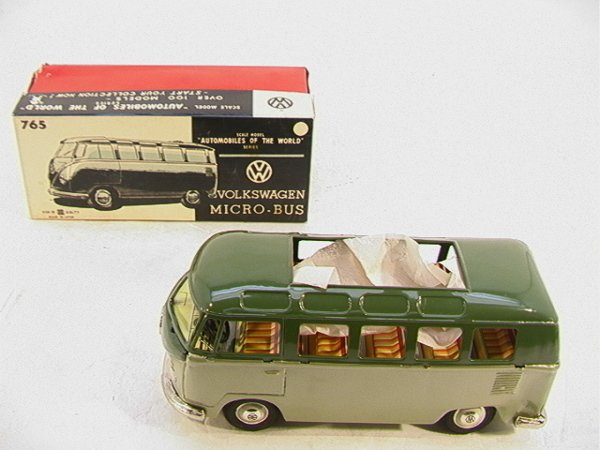 1006: Bandai Japan Tin Friction Volkswagen Micro-Bus.