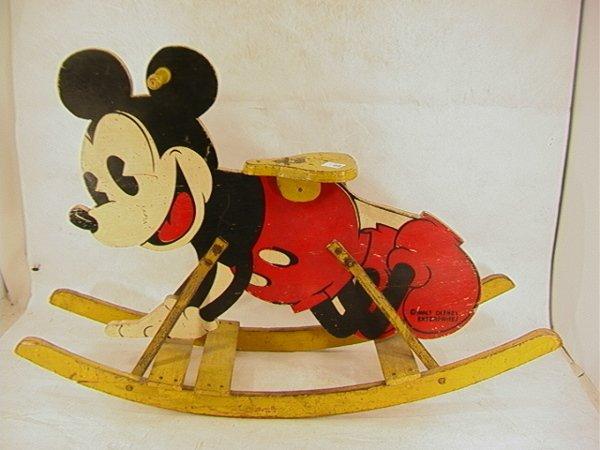 1007: Walt Disney Enterprises Rocking Mickey Mouse.  Ri