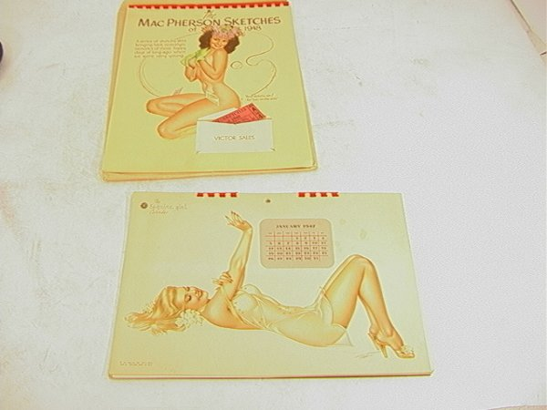 1017: Pinup Calendars.  Mac Pherson Sketches 1948 and E