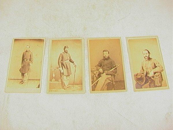 1019: 4 CDV Carte de Visite Civil War Soldier Photograp