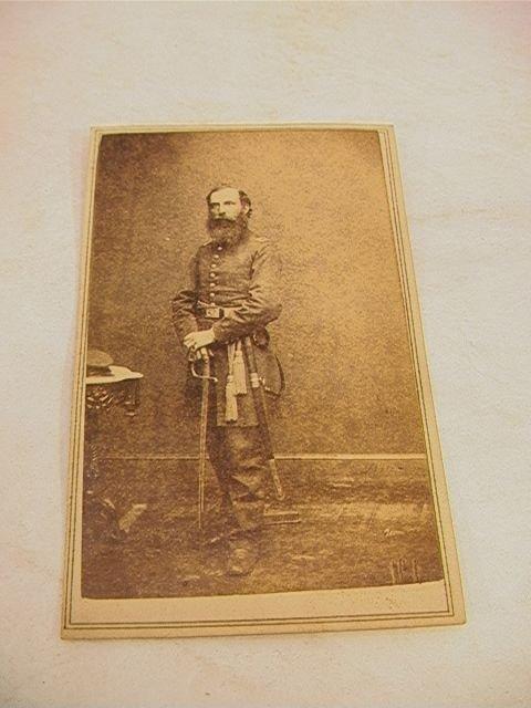 1020: BRADY CDV Civil War Soldier Photograph.  From Bra