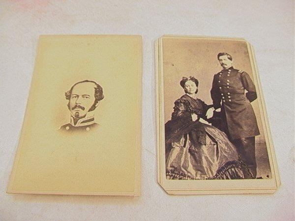 1021: 2 CDV  Civil War Generals McClellan.  One of Gen.