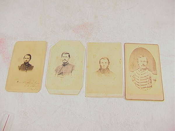 1022: 4 CDV Photographs Civil War Soldiers.  Freeburger