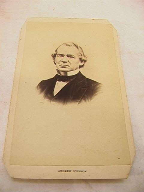 1023: Signed Andrew Johnson CDV Carte De Visite Autogra