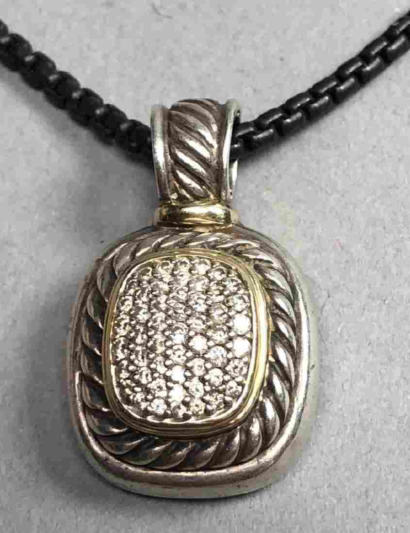 DAVID YURMAN Sterling 18K Gold Pendant Necklace.