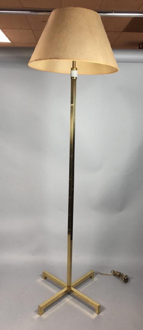 ROBSJOHN GIBBINGS  Square Brass Tube Floor Lamp.