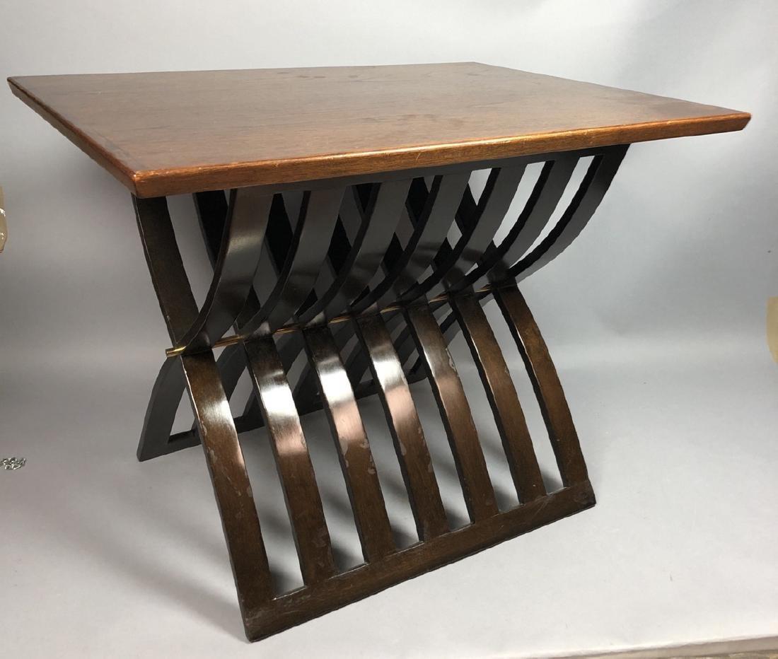 HARVEY PROBBER Walnut Stylish Modern Side Table.