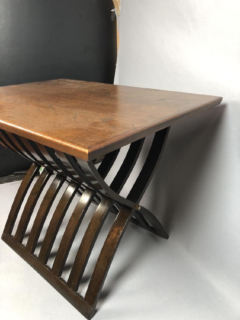HARVEY PROBBER Walnut Stylish Modern Side Table. - 5