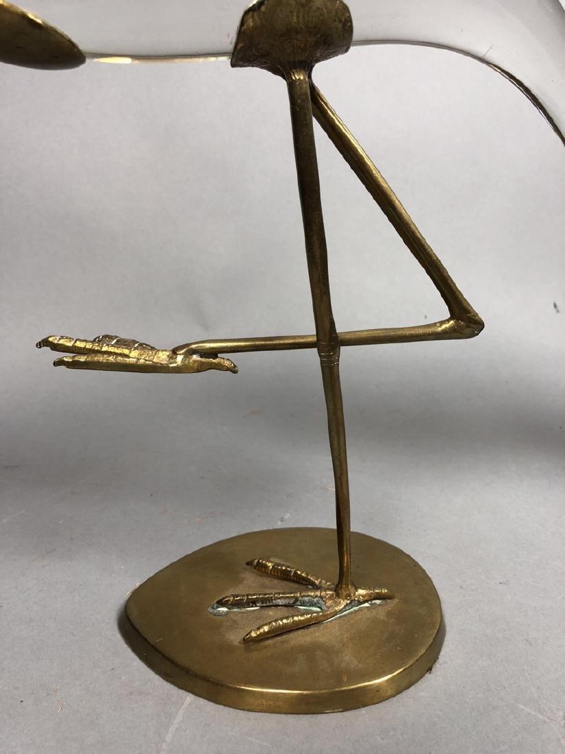 Pr Crystal & Glass Modern Figural Bird Sculptures - 3