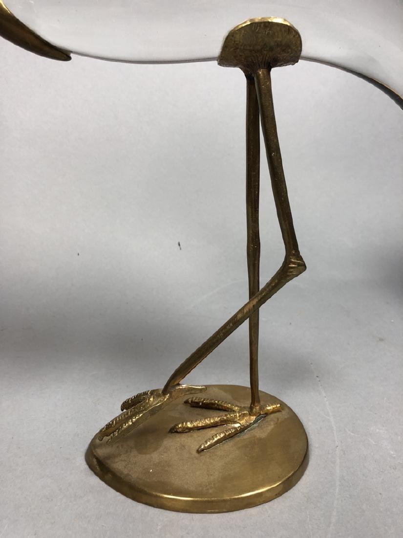 Pr Crystal & Glass Modern Figural Bird Sculptures - 4