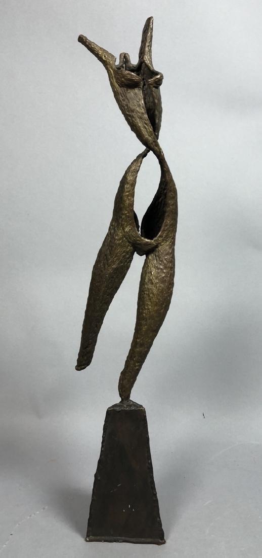 Modern Brutalist Female Nude Figure Metal Sculptu