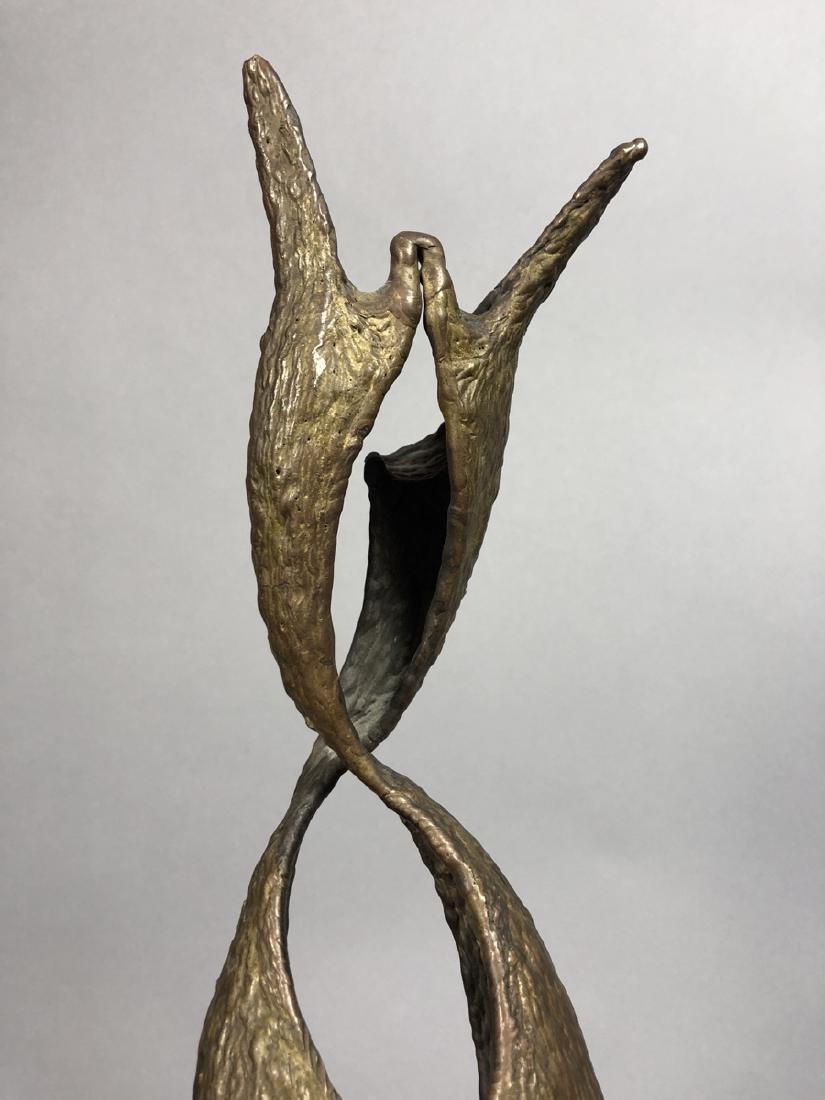 Modern Brutalist Female Nude Figure Metal Sculptu - 4