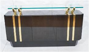 Highly Lacquered Brass Trim 3 Door Designer Crede
