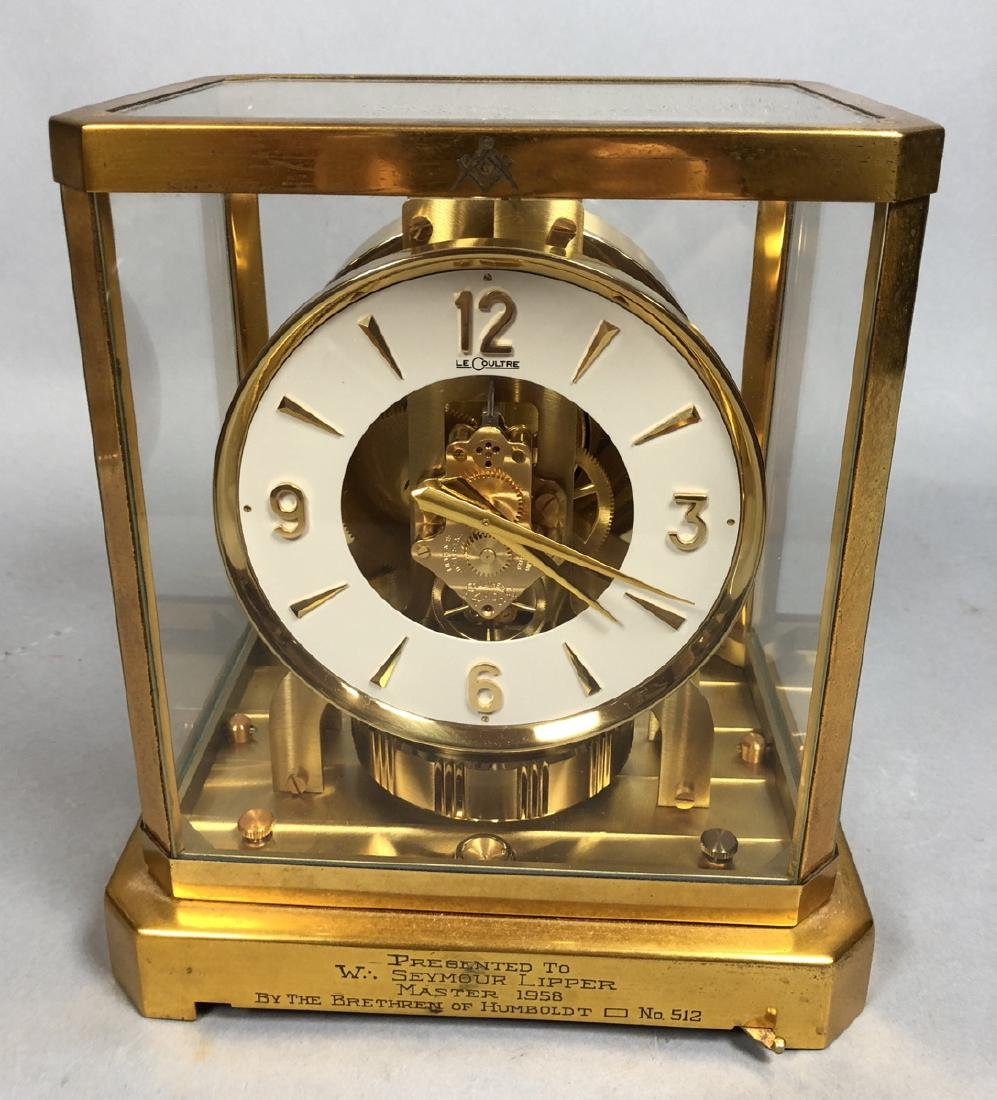 "LE COULTRE Brass Crystal ATMOS Clock. ""The Perpet"