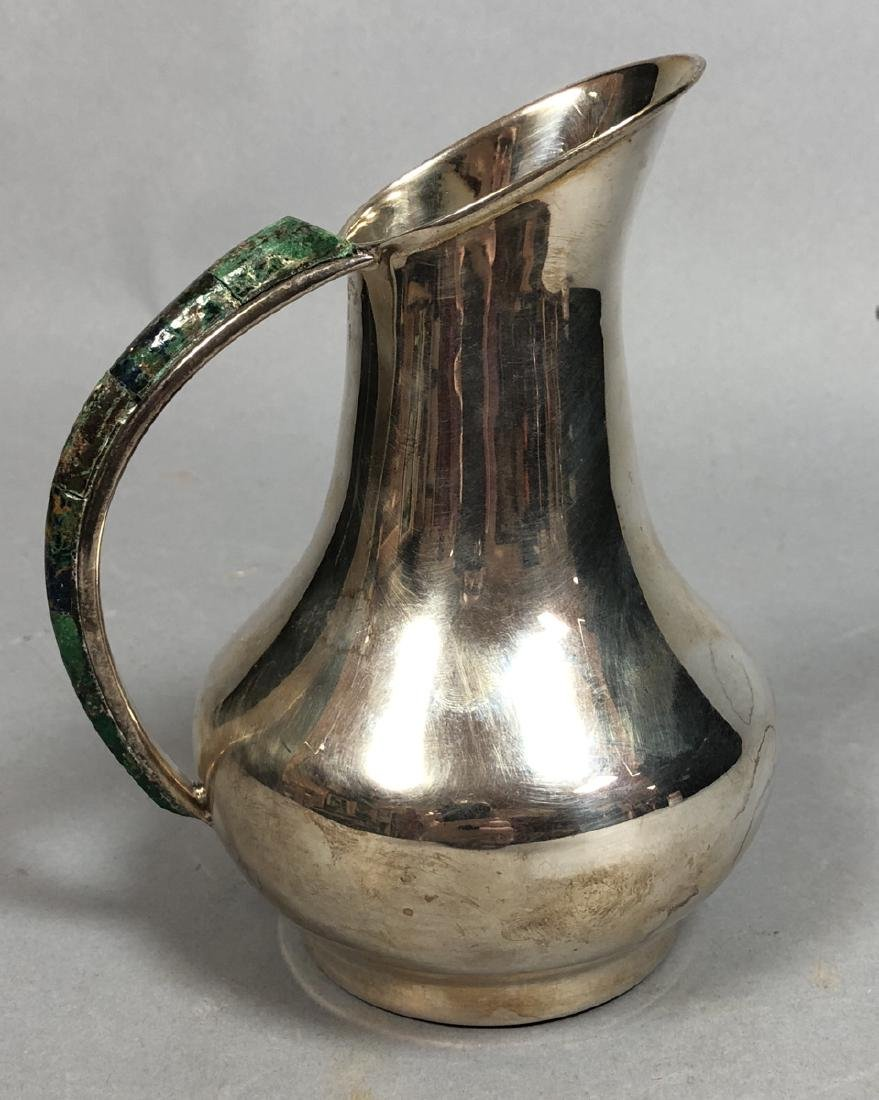 LOS CASTILLO Mexican Silver plate Small Pitcher.