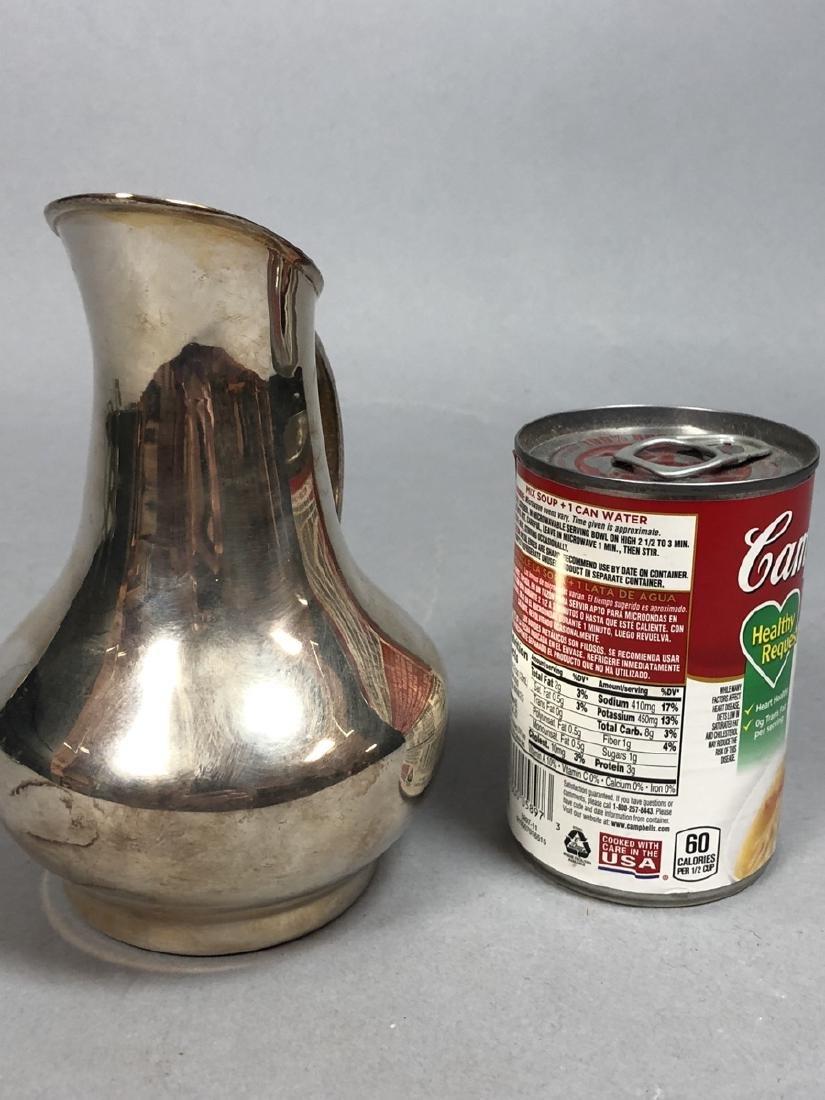 LOS CASTILLO Mexican Silver plate Small Pitcher. - 6