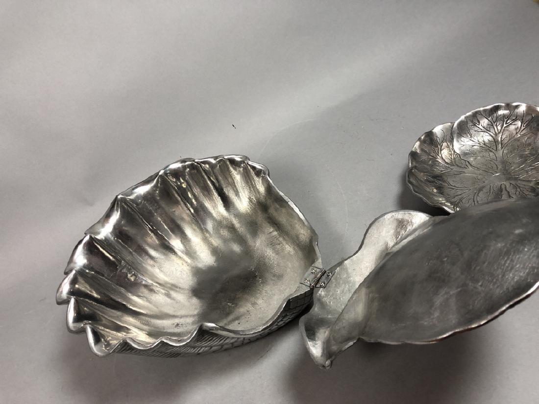 2pc ARTHUR COURT Pewter Serving Bowls. Large scal - 5