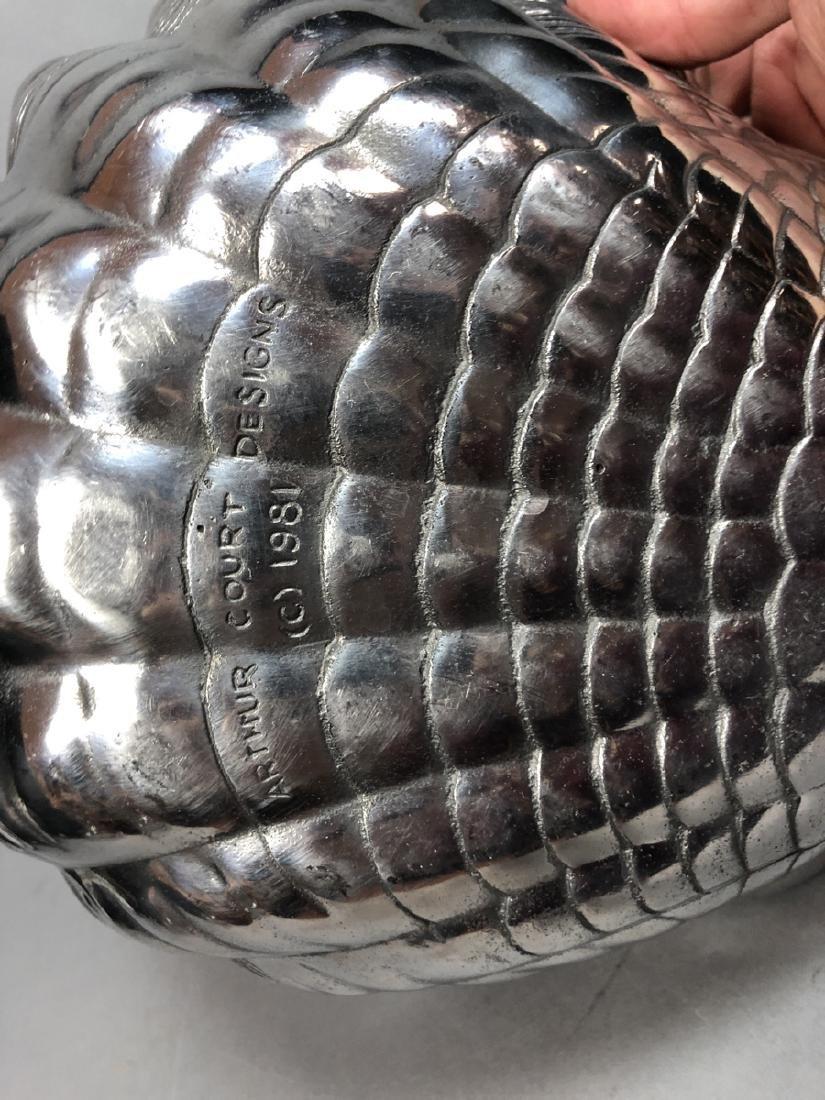 2pc ARTHUR COURT Pewter Serving Bowls. Large scal - 6