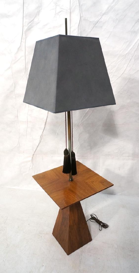 HARVEY PROBBER Stylish Modern Walnut Lamp Table.